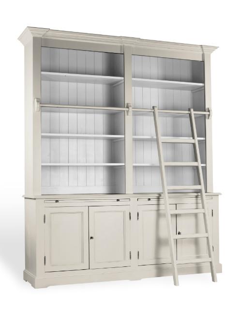 Betere Boekenkast met trap - Landelijke Meubelen - Collectie - Inndoors JD-92