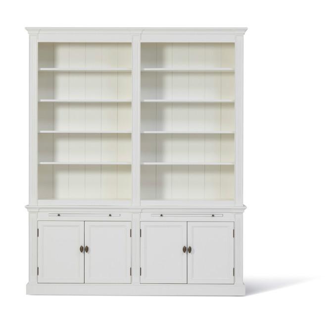 landelijke boekenkast white wash inndoors