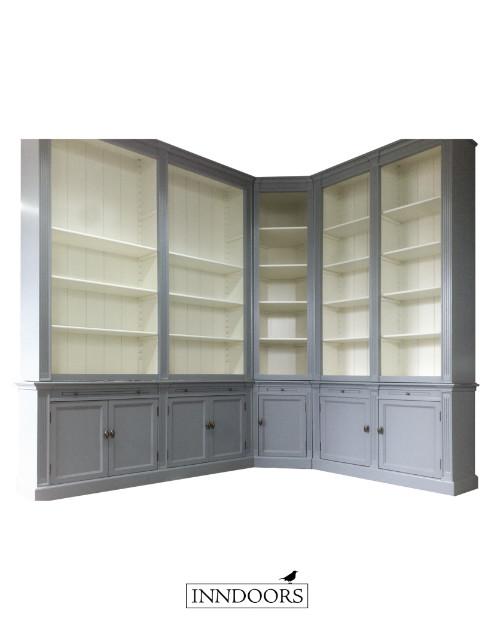 maatwerk boekenkast met hoek